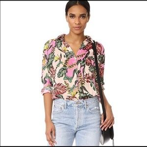 Free People 'Under the Palms' Tropical Button Down